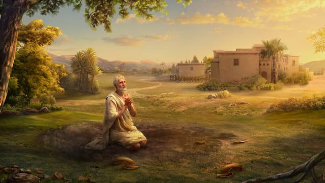 Giobbe pregare Dio per obbedica a Dio