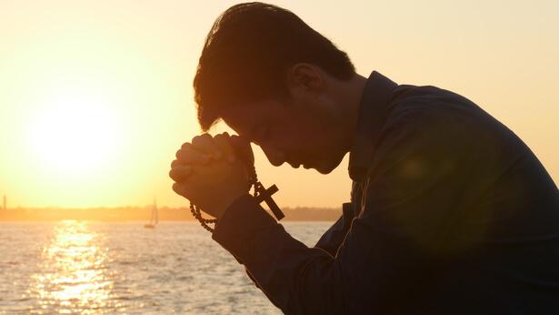 un cristiano prega al Signore per sapere la volonta' del Signore