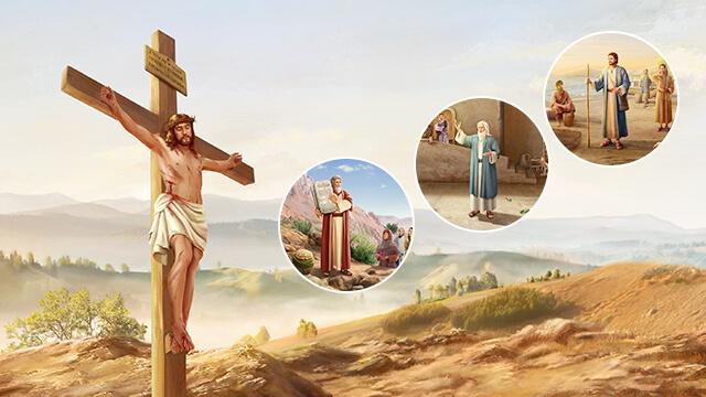 il Signore Gesu', tre fasi dell'opera di Dio, mose', noe', pietro