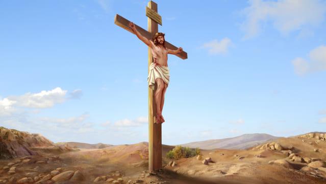 Signore Gesu e' crocifisso per salvarci